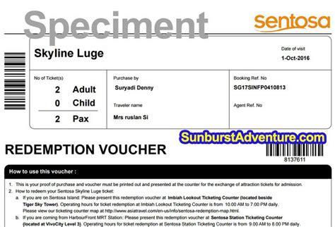 Tiket Sentosa Luge Skyride 1 wisata luge singapore skyride sentosa seru