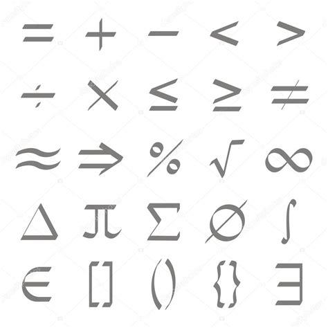 imagenes con simbolos groseros conjunto de iconos monocromos con s 237 mbolos matem 225 ticos