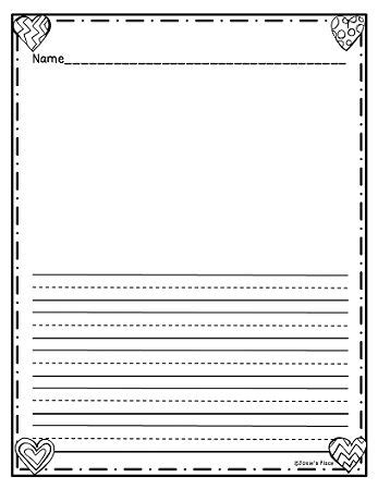 student writing paper template freebie writing paper for february check out more