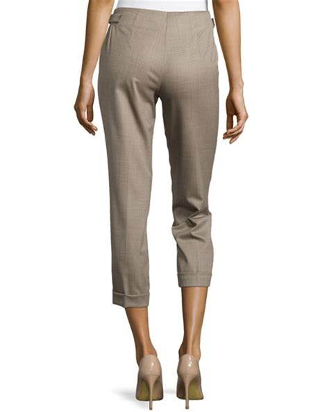 Cropped Wool Tapered escada wool cropped with tapered legs