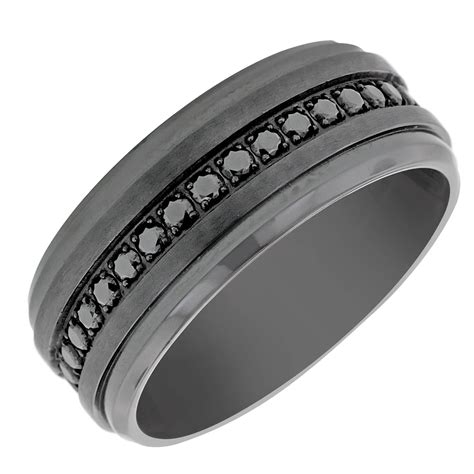 15 collection of men s titanium wedding bands with diamonds