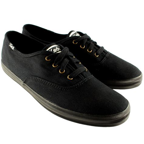 mens chion keds canvas lace up plimsoll casual flat