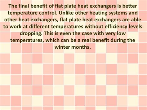 Advantages Of Flatsharing by Benefits Of Flat Plate Heat Exchangers