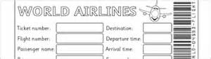 Pretend Plane Ticket Template by Free Topic Teaching Resources And Printables