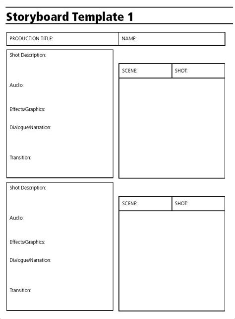 video storyboard template powerpoint audio video