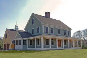 Metal Building House Plans With Wrap Around Porches by New England Farmhouse W Wrap Around Porch Hq Plans