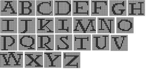 knitting chart alphabet the wandering interrobang nerdy knits potter alphabet