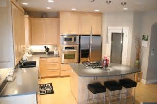 Kitchen with maple cabinets and quartz counters contemporary kitchen