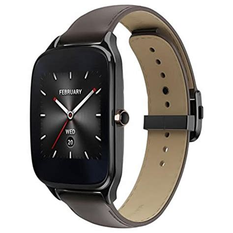 Smartwatch Zenwatch 2 asus zenwatch 2 smartwatch 1 63 stainless steel gunmetal brown leather band certified
