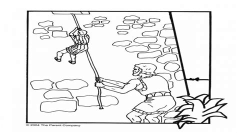 joshua and the battle of jericho coloring page printable