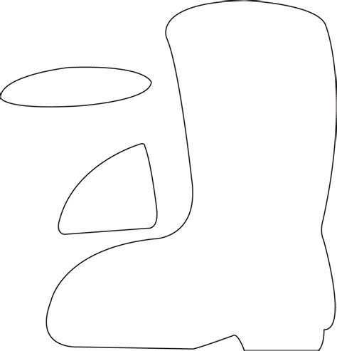 Boot Template by Santa Boot Template Printable Printables