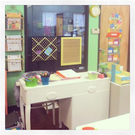 shabby chic teacher desk classroom ideas pinterest