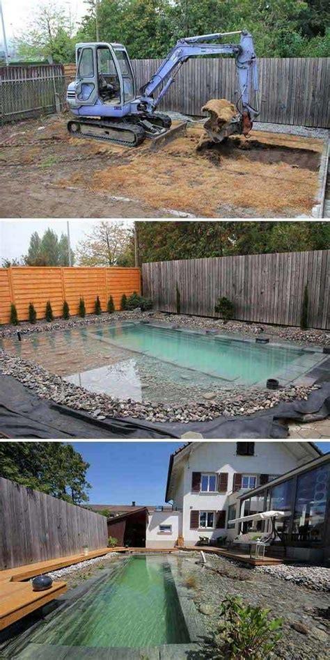 pool deck bauen schwimmteich selber bauen 13 m 228 rchenhafte