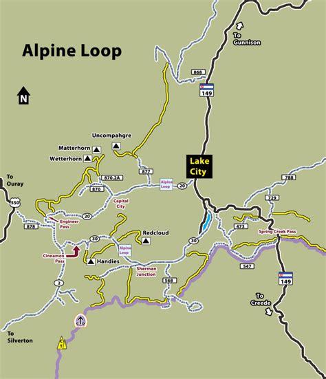 Map Lop Air Mail B5 alpine loop colorado map bnhspine