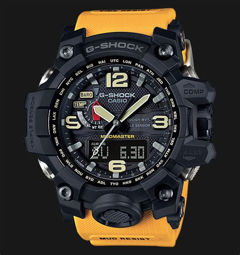 Jam Tangan Casio G Shock Mud Master Glow In The Darkblack List casio g shock mudmaster gwg 1000 1a9dr sensor