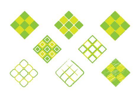 ketupat icon   vectors clipart graphics