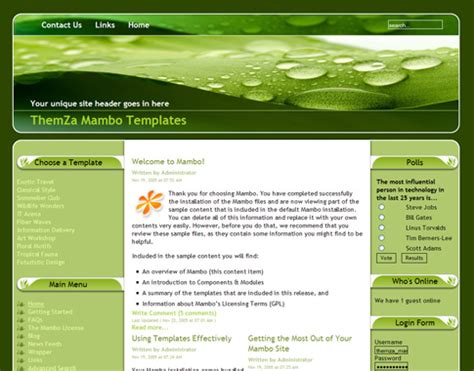 nature templates for blogger pure nature free mambo template