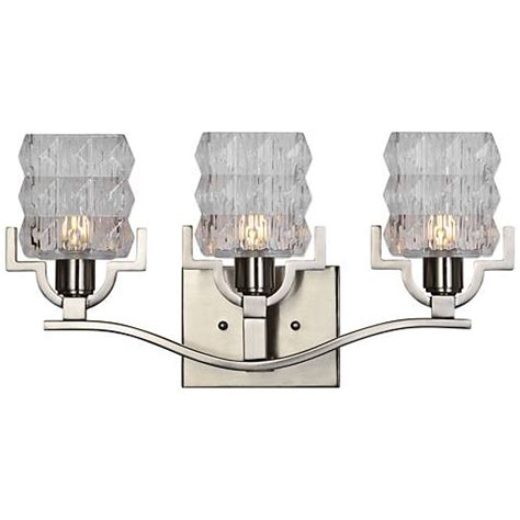 Uttermost Bathroom Lighting Uttermost Copeman 19 Quot Wide Brushed Nickel 3 Light Bath Light 18x33 Ls Plus