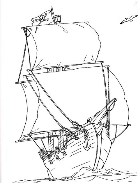 pirate ship coloring page homeschool kids printables
