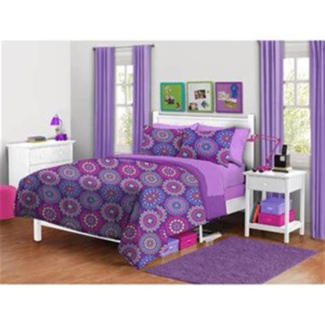purple medallion bedding amazon com your zone twin girls vibrant purple medallion