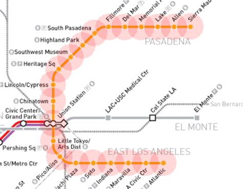 metro gold line map gold line map los angeles metro rail