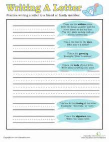 how to write a letter worksheet education