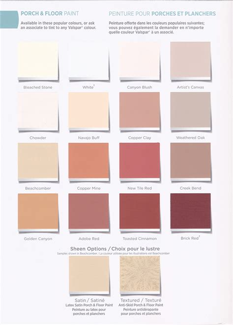 valspar paint colours design production porch paint color card brochure on