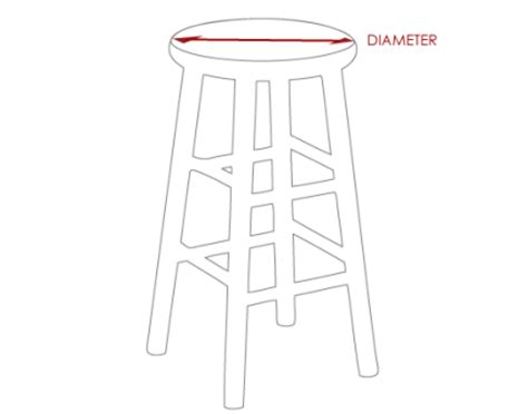 Stool Diameter by How To Measure A Stool Or Chair For A Cushion