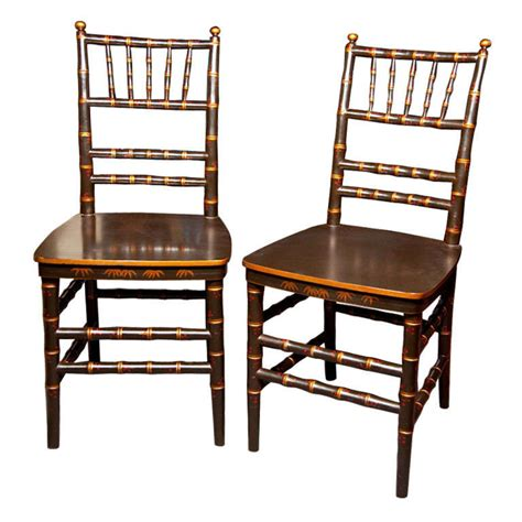 bamboo dining room chairs pair chinoiserie faux bamboo dining chairs at 1stdibs