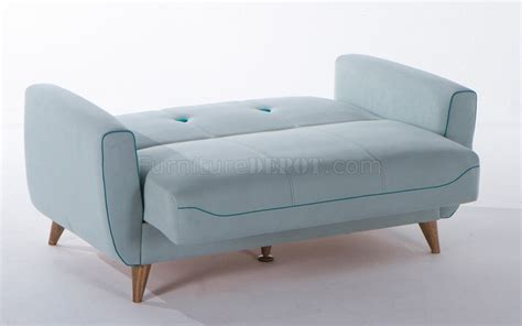 pale blue sofa bed nora zigana light blue sofa bed in fabric by istikbal w