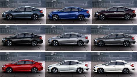 2016 honda civic sedan interior and exterior color options