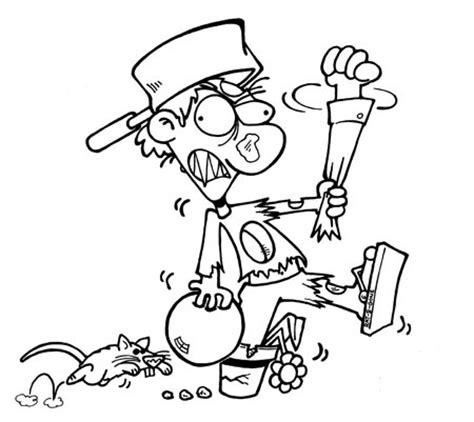 imagenes para pintar zombie dibujos zombies para colorear imagui