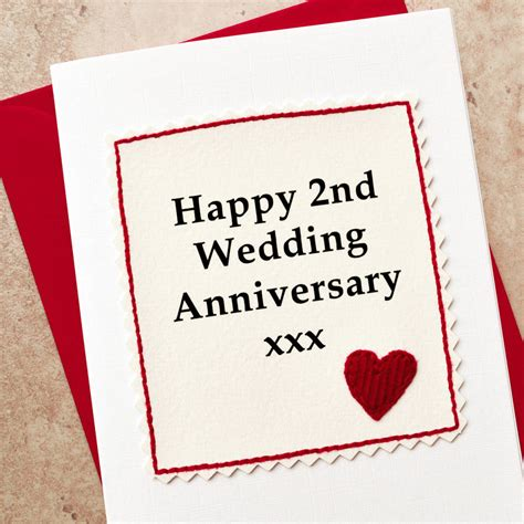 2nd Anniversary Wedding by Handmade 2nd Wedding Anniversary Card By Arnott