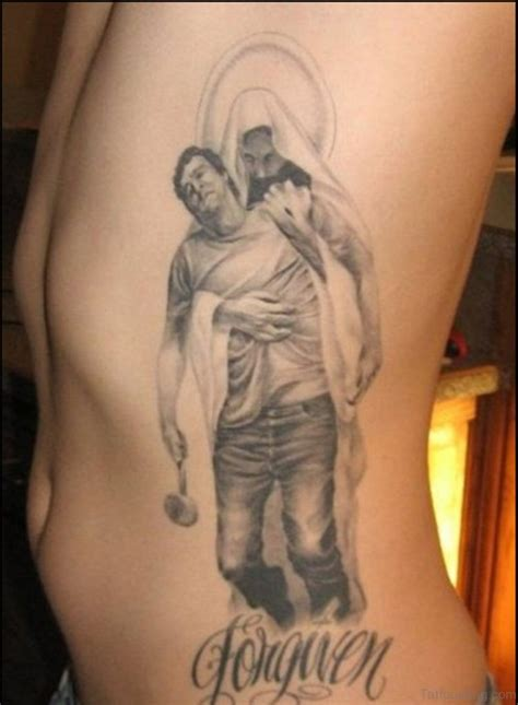 30 best tattoos of the 30 best jesus tattoos on rib