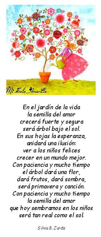 mensaje para maestra jardinera pin by mirtha perez on poemas estaciones pinterest