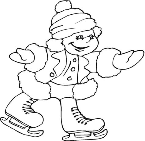 ice skating printable coloring pages