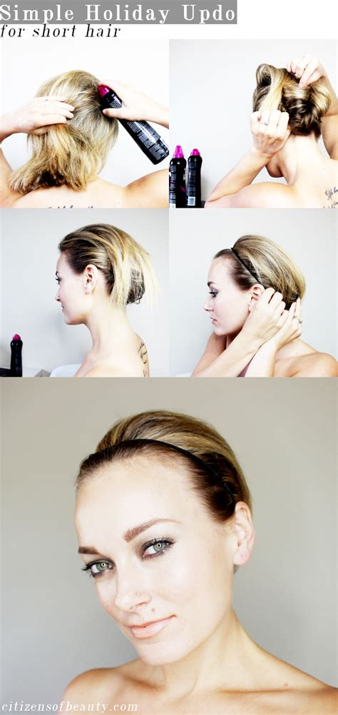 updos for shorter hair pintrest easy holiday updo for short hair citizens of beauty