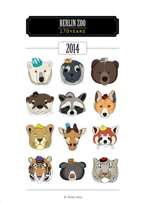 zoo design inspiration 25 new year 2014 wall desk calendar designs for inspiration