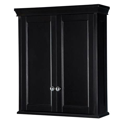 Home Depot Bathroom Storage Home Decorators Collection 24 3 4 In W Bathroom Storage Wall Cabinet In Classic Espresso