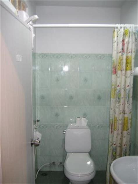 All in one bathroom with shower sink toilet picture of thepparat lodge pak nam tripadvisor