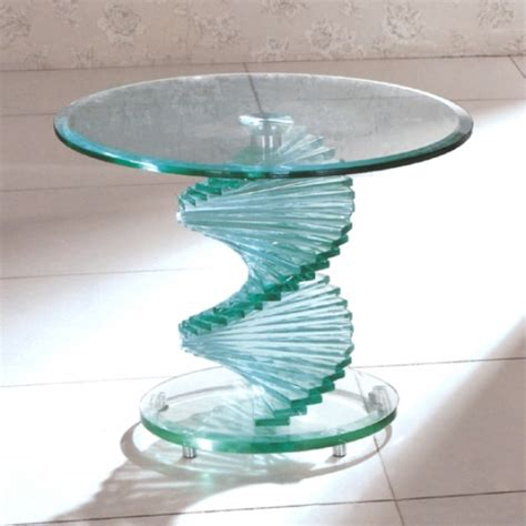 Glass Table by Glass Bedside Table