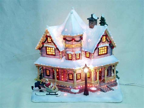 china fiber optic house china christmas village light