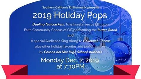 southern california philharmonic holiday pops