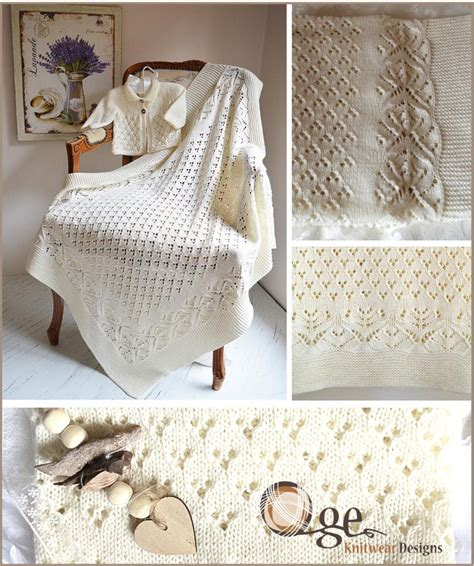heirloom blanket knitting pattern lace and heirloom blanket and matching jacket
