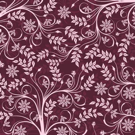 design undangan batik vector batik daun ungu keren