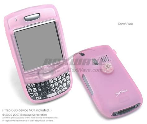 Pink Protection For Treo 680 And 750 by Treo 680 Flexiskin Silicone Cases And Covers Ultra