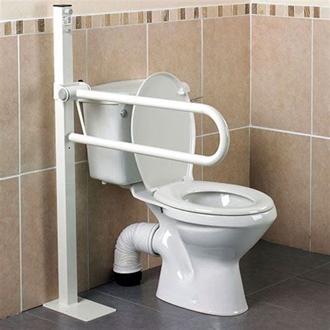bathroom handicap rails floor mounted toilet safety rails installtoiletliftseat