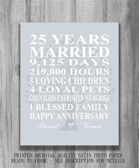 silver wedding anniversary songs 25 best ideas about 25th anniversary gifts on