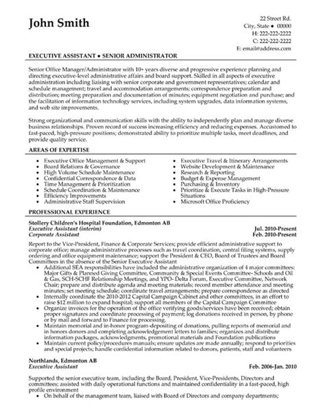 Professional Executive Resume Samples