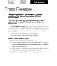 press release template vnzgames